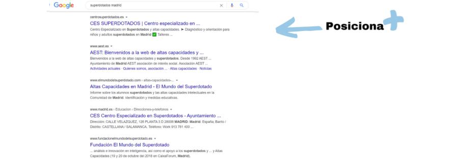 Posicionamiento Superdotados Madrid - Consultor SEO - Posiciona +